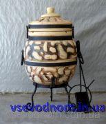 ТАНДЫР модель 1 (дизайн булыжник), высота 80 см, диаметр 40 см