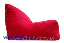 Красное бескаркасное кресло-лежак из ткани Оксфорд