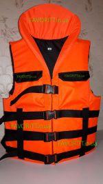 Жилет спасательный с подголовником Адмирал люкс оранжевый