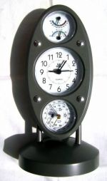 Метеостанция Барометр - Гигрометр - Термометр - Часы - Будильник 5 в 1